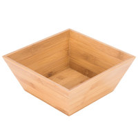 American Metalcraft BAM94 Square Bamboo Bowl - 9 1/2 inch x 4 inch