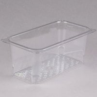 Cambro 35CLRCW135 Camwear 1/3 Size Clear Polycarbonate Colander Pan - 5 inch Deep
