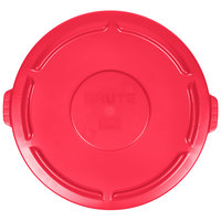 Rubbermaid FG265400RED BRUTE Red 55 Gallon Trash Can Lid