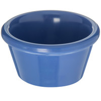 Carlisle 085214 2 oz. Ocean Blue Smooth Plastic Ramekin - 72/Case