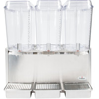 Crathco D35-3 Triple 5 Gallon Bowl Stainless Steel Refrigerated Beverage Dispenser
