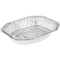 Durable Packaging Oval Foil Roast Pan 18 inch x 14 inch x 3 inch - 50/Case