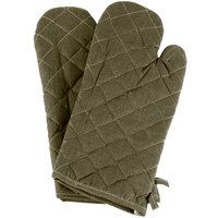 Choice 15 inch Flame-Retardant Oven Mitts - 2/Pack