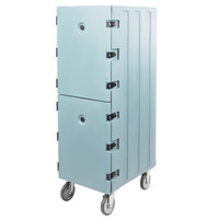 Cambro 1826DTC401 Camcart Slate Blue Double Compartment Tray and Sheet Pan Carrier