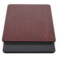 Lancaster Table & Seating 30 inch x 48 inch Laminated Rectangular Table Top Reversible Cherry / Black
