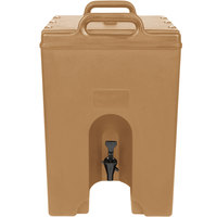 Cambro 1000LCD157 Camtainer 11.75 Gallon Tan Insulated Beverage Dispenser