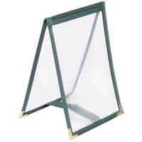 Menu Solutions SE135 5 inch x 7 inch Single Panel / One View Green Sewn Edge Table Tent