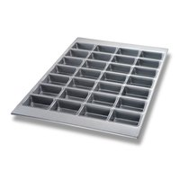 Chicago Metallic 45727 28 Cup Glazed Mini-Loaf Specialty Pan - 17 7/8 inch x 25 7/8 inch