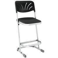 National Public Seating 6624B Elephant Z-Stool with Backrest - 24 inch High
