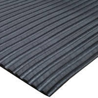 Cactus Mat 1031R-C3 Duratred 3' Wide Black Golf Spike Resistant Rubber Mat - 1/4'' Thick