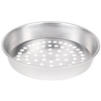 American Metalcraft SPA90081.5 8 inch x 1 1/2 inch Super Perforated Standard Weight Aluminum Tapered / Nesting Pizza Pan