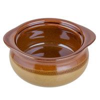 Acopa Two Tone 10 oz. Onion Soup Stoneware Crock / Bowl - 6/Pack