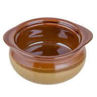 Acopa Two Tone 10 oz. Onion Soup China Crock / Bowl - 6/Pack