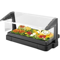 Cambro BBR720110 Black 6' Buffet / Salad Bar with Sneeze Guard