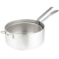 Vollrath 68227 Wear-Ever 9 Qt. Heavy Duty Aluminum Fryer Pot with Basket