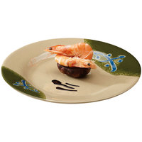 GET M-5080-TD Japanese Traditional 9 1/2 inch Plate with Wide Rim - 12/Case
