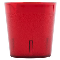 Cambro 900P156 Colorware 9.7 oz. Ruby Red Customizable Plastic Tumbler - 72/Case