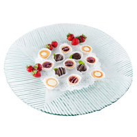 Tablecraft G14 Barcelona 13 3/4 inch Round Cake Plate / Tray