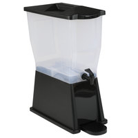 Carlisle 1085603 TrimLine 3 Gallon Black Economy Beverage Dispenser