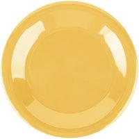 Carlisle 3301822 Sierrus 6 1/2 inch Honey Yellow Wide Rim Melamine Pie Plate - 48/Case