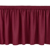 National Public Seating SS32-36 Burgundy Shirred Stage Skirt for 32 inch Stage - 31 inch x 36 inch