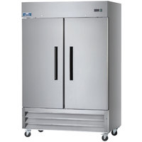 Arctic Air AR49 54 inch Two Section Solid Door Reach-in Refrigerator - 49 cu. ft.