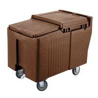 Cambro ICS175L131 Dark Brown Sliding Lid Portable Ice Bin - 175 lb. Capacity