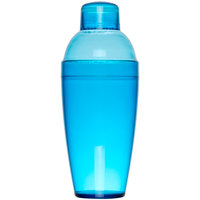 Fineline Quenchers 4103-BL 14 oz. Blue Plastic Shaker - 24/Case