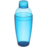 Fineline 4103-BL Quenchers 14 oz. Blue Plastic Shaker - 24/Case