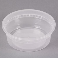 Newspring DELItainer L5008Y 8 oz. Translucent Round Deli Container - 48/Pack