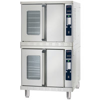 Alto-Shaam ASC-4ESTE Platinum Series Stacked Full Size Electric Convection Oven with Electronic Controls - 480V, 3 Phase, 10400W