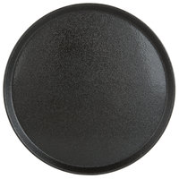 Carlisle 1600GR22004 Black 16 inch Griptite 2 Non Skid Fiberglass Serving Tray