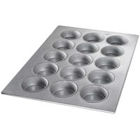 Chicago Metallic 43035 15 Cup Glazed Oversized Mini-Cake Muffin Pan - 17 7/8 inch x 25 7/8 inch