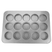 Chicago Metallic 43035 15 Cup Glazed Customizable Oversized Mini-Cake Muffin Pan - 17 7/8 inch x 25 7/8 inch