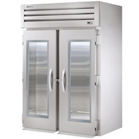 True STG2RRT-2G-2S Specification Series Two Section Roll Through Refrigerator with Front Glass Doors and Rear Solid Doors - 75 Cu. Ft.