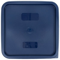 Cambro SFC12453 Midnight Blue Square Polyethylene Lid for 12, 18, and 22 Qt. Food Storage Containers