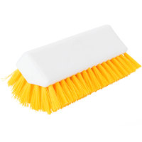 Carlisle 4042304 Sparta Spectrum 10 inch Hi-Lo Yellow Floor Scrub Brush
