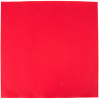 Hoffmaster FashnPoint 15 1/2 inch x 15 1/2 inch Red Flat Pack Linen-Feel Napkin - 750 / Case