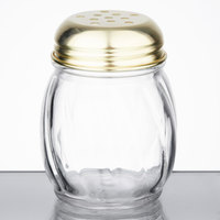 6 oz. Glass Shaker with Perforated Gold Top   - 3/Pack