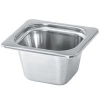 Vollrath 8264205 Miramar® 1/6 Size Satin-Finished Stainless Steel Steam Table Food Pan - 4 inch Deep