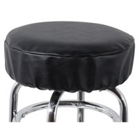 14 inch Black Vinyl Bar Stool Seat Cover