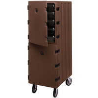 Cambro 1826DBC131 Camcart Dark Brown Double Compartment Food Storage Box Carrier