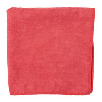 Carlisle 3633405 16 inch x 16 inch Red Terry Microfiber Cleaning Cloth - 12/Case