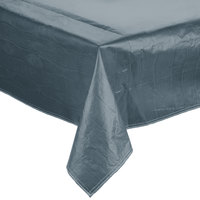Intedge 52 inch x 90 inch Blue Vinyl Table Cover with Flannel Back