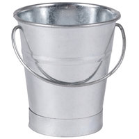 American Metalcraft GP3 Mini Galvanized Pail - 3 1/2 inch