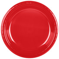Creative Converting 28103131B 10 inch Classic Red Plastic Plate - 600/Case