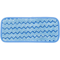 Rubbermaid Q820 HYGEN 11 inch Quick Connect Microfiber Wall / Stair Wet Mop Pad (FGQ82000BL00)