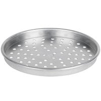 American Metalcraft PHA90101.5 10 inch x 1 1/2 inch Perforated Heavy Weight Aluminum Tapered / Nesting Pizza Pan