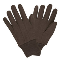 Premium Brown Jersey Gloves - Large - 12 Pairs / Pack