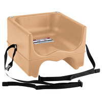 Cambro 200BCS157 Beige Plastic Booster Seat - Dual Seat with Strap